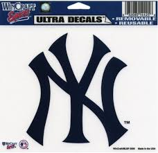 Amazon Com Old Glory New York Yankees Logo Decal Automotive Decals Sports Outdoors