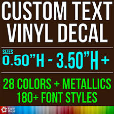 Custom Vinyl Lettering Decal Personalized Sticker Window Wall Text City Name Car Ebay