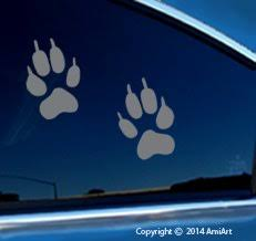 Wolf Paw Print Sticker Decal Includes Buy Online In Bahamas At Desertcart