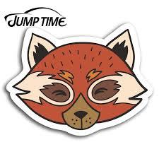 Jump Time Red Panda Bear Cute Vinyl Stickers Sticker Laptop Luggage Gift Car Assessoires Window Decals Car Wrap Diy Car Stickers Aliexpress