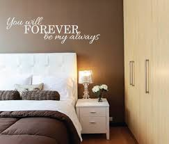 Above Bed Wall Sticker You Will Forever Be My Always L Over Etsy