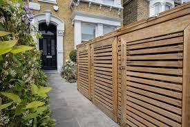 enclosed front garden driveway