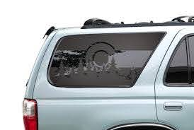 Amazon Com State Of Colorado Forest Flag Decals For Toyota 4runner In Matte Black For Side Windows Fits 1995 2002 Fr25c A Handmade