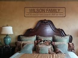 Custom Family Name And All Because Two People Fell In Love Wall Decal Touch Of Beauty Designs Custom Wall Decals