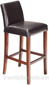 firenze bar stool black leather