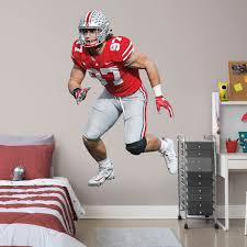 Wall Decals 22high X 40wide Decor Ncaa Ohio State Wall Decal Vinyl Sticker College Football Home Interior Removable Decor Sports Outdoors Decor