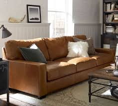 turner square arm leather sofa