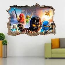 Lego Ninjago Smashed Wall 3d Decal Removable Graphic Wall Sticker Mural H153 Ebay