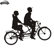 Lover Bike Sticker Tandem Bicycle Cycling Car Decal Posters Vinyl Wall Decor Mural Sticker Car Stickers Aliexpress