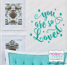 You Are So Loved Quote Vinyl Wall Decal Ebay