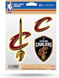 Amazon Com Cleveland Cavaliers Triple Sticker Multi Decal Spirit Sheet Auto Home Basketball Sports Outdoors