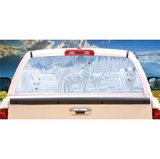 Wolves Guardians Of The Night Mural Tint Decal Custom Tire Covers