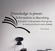 knowledge is power wall decal vinyl sticker education motivational