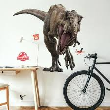 Roommates Jurassic World 2 T Rex Giant Wall Decal Rmk3797slm The Home Depot