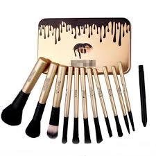 labelled makeup brushes
