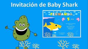 Crear Invitacion De Baby Shark Para Tu Cumpleanos Fondo De