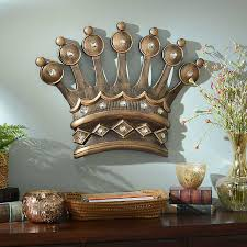 His Crown Gold Jeweled Wall Plaque Kirklands