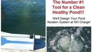 proper sized aeration benefits the pond
