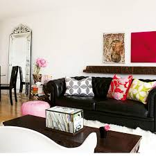 black leather furniture living room