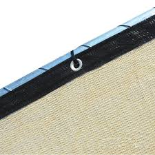 Fence4ever 46 In X 50 Ft Beige Privacy Fence Screen Plastic Netting Mesh Fabric Cover With Reinforced Grommets For Garden Fence F4e T450fs A 93 The Home Depot