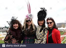 Sonia Smith, Sophie Lydia-Perkins, Charlotte Blenkinsopp and Amy Brown  during day two of the Cheltenham Festival at Cheltenham Racecourse Stock  Photo - Alamy