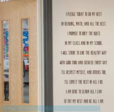 Classroom Wall Decoration Decal Quote School Pledge Do My Best Sticker