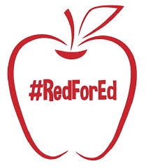 Rfe001 Red For Ed Outline Apple Redfored Die Cut Vinyl Graphic Decal Sticker 5