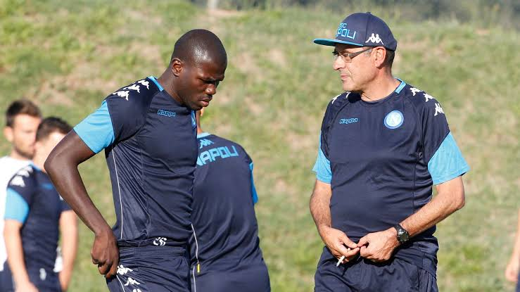 Image result for koulibaly and sarri""