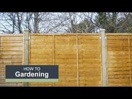 How To Install A Fence With Wickes Youtube