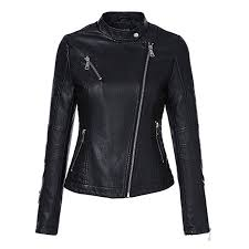 fl jack faux leather jacket women full