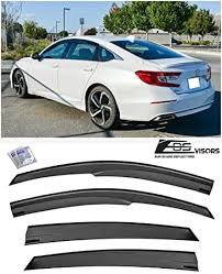 Amazon Com Extreme Online Store Replacement For 2018 Present Honda Accord Eos Visors Jdm Mugen Style Smoke Tinted Side Vents Rain Guard Window Deflectors Automotive
