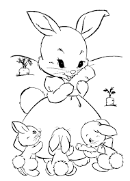 rabbit kids coloring pages