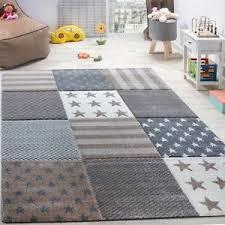 Kids Star Rug Check Beige Brown Grey Soft Mat Children Room Carpet Small X Large Ebay Textured Carpet Kids Rugs Pink And Grey Rug