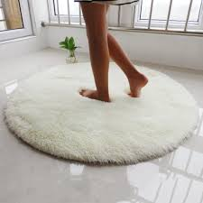 Fluffy Round Rug Carpets For Living Room Long Plush Carpet Kids Room Faux Fur Rugs For Bedroom Shaggy Area Rug Home Modern Mat Neewho