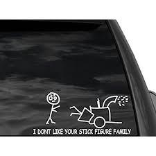Amazon Com Fgd Car Funny Stick Figure Grinder Car Window Decal 11 X 5 Car Truck Suv Automotive