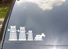 Dr Who Car Decals Family Car Stickers Dalek Doctor Who Nursery