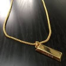 supreme gold bar chain necklace luxury