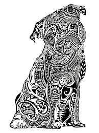 Printable Of Pugs Coloring Pages For Kids And For Adults Clip
