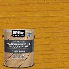 Behr Premium 1 Gal T 170 Golden Honey Transparent Waterproofing Exterior Wood Finish 50001 The Home Depot