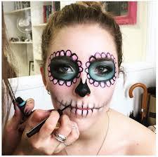 how to easy sugar skull halloween look