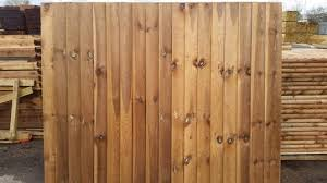 Contractor Feather Edge Panel Tanalised Brown Oakdale Fencing