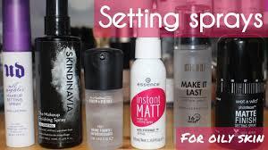 6 makeup setting sprays for oily skin