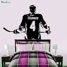Hockey Girl Player Wall Art Decal Sticker Personalized Name Number Home Decor Wall Stickers For Kids Room Vinilos Paredes A184 Sticker For Kids Room Wall Stickers For Kidsname Wall Stickers Aliexpress