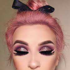 pink eye makeup glitter eye