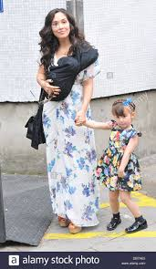 Myleene Klass and her daughter Ava Bailey Quinn celebrities outside Stock  Photo - Alamy