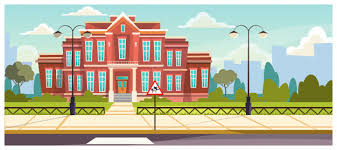 Free Vector School Building With Small Fence Around