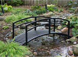 outdoor steel bridge 8 foot garden pond