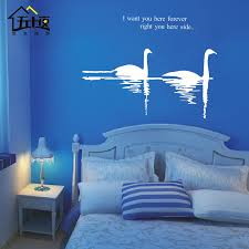 Landscape Fall Large Lake Swan Wall Stickers Swan Wall Decals 22 Colors Choose Home Decor Decoration Home Decor 3d Decorhome Decor Statue Aliexpress