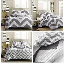 black and white chevron twin bedding