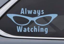Always Watching Roz Car Decal Sticker Inspired By Disney Etsy Car Decals Stickers Custom Vinyl Decal Car Decals